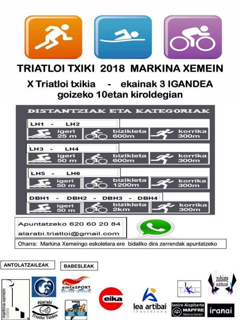 X. Triatloi txiki 2018