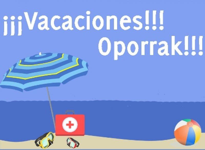 Medicina deportiva: Cierre por vacaciones